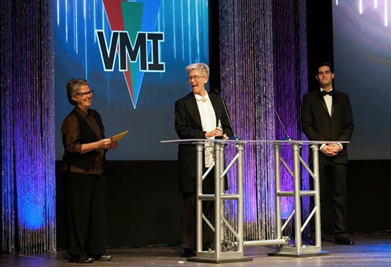 Pam Walton and Ruth Carranza receive Filmmaker Award for Triptych at the 5th annual CreaTiVe Awards gala (2014)
