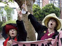 Stilll from Raging Grannies, a film by Pam Walton Productions