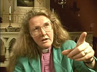 Reverend Phyllis Zilhart in Call to Witness, a film by Pam Walton Productions