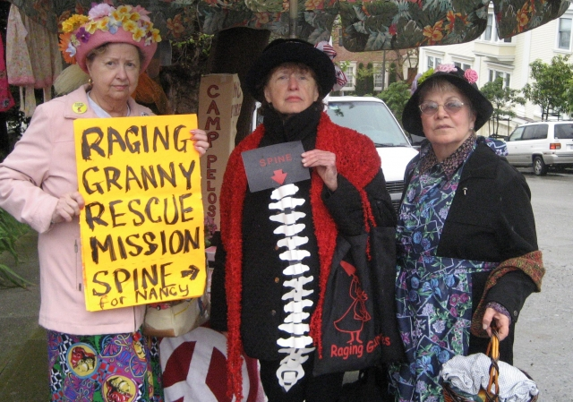 Raging Grannies, Spine for Nancy